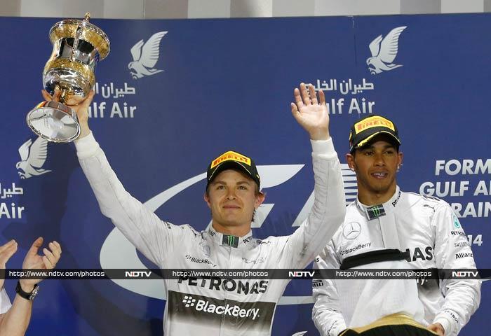 Lewis Hamilton takes the honours at the Bahrain Grand Prix