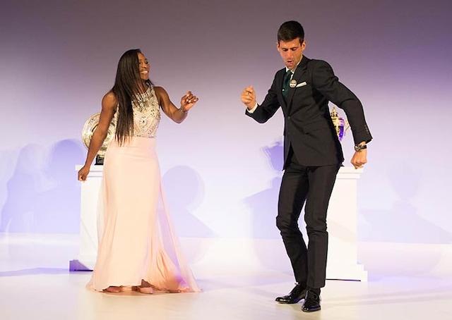 Wimbledon: Serena Williams Dances to Novak Djokovics Tunes
