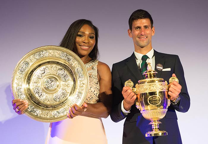 Wimbledon: Serena Williams Dances to Novak Djokovic