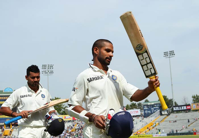 Shikhar Dhawan's blitzkrieg ton on Test debut