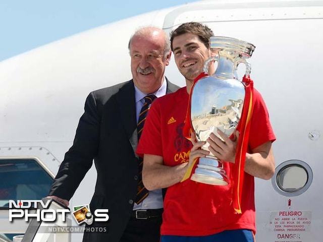 A kings welcome for European champions Spain
