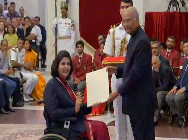 Photo : President Ram Nath Kovind Honours Athletes, Coaches On National Sports Day