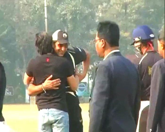 SRK meets his Knights