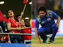Photo : IPL 2015: Sachin Tendulkar, Preity Zinta in Focus in MI vs KXIP Clash