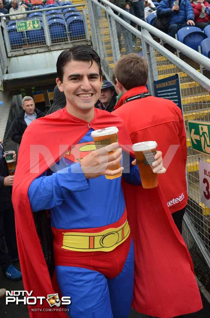 Champions Trophy: Comic heroes day out at rainy Cardiff