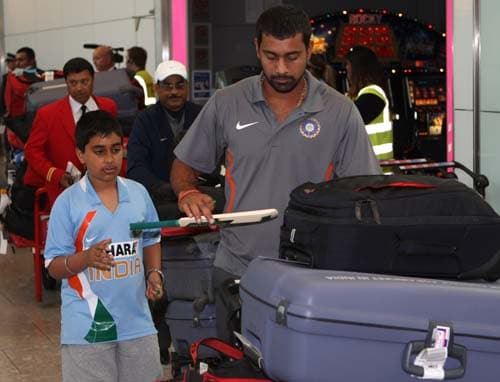 India arrival in England for T20