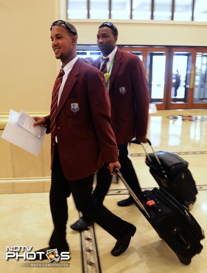 Teams arrive in Sri Lanka for the ICC World T20