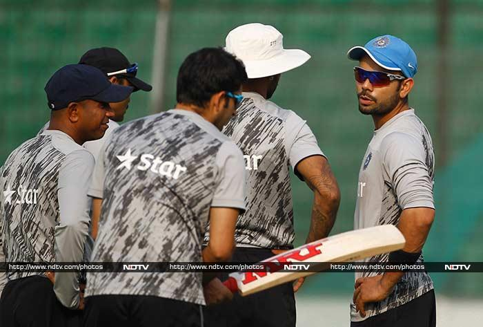 WT20: Team India 'ditch' football, hit cricket nets hard