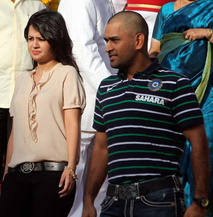 Team Dhoni's first day as World Champs