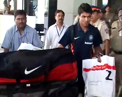 Team India back from WI