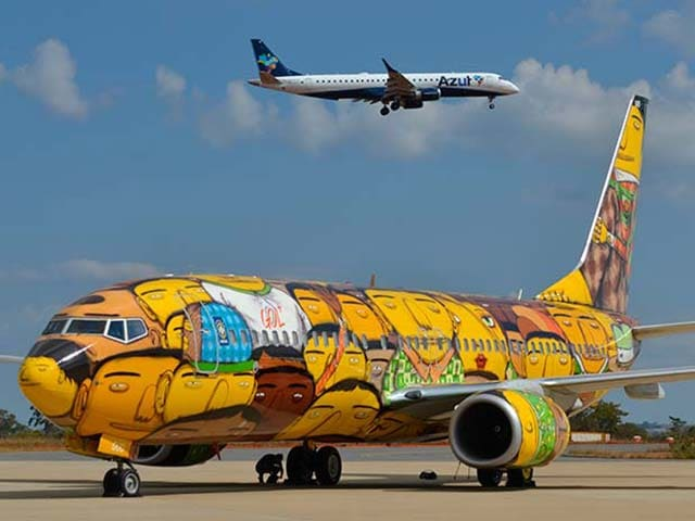 Photo : It's Art in The Air: Brazil's World Cup Team Plane