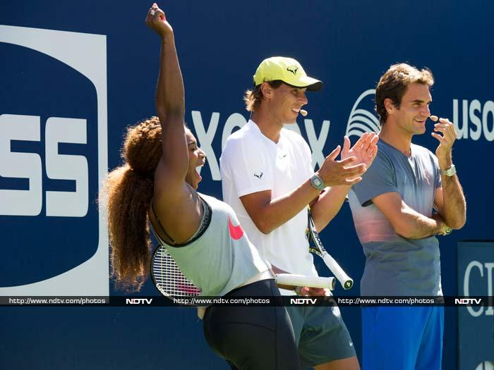 US Open: Kids and their day out with tennis superstars