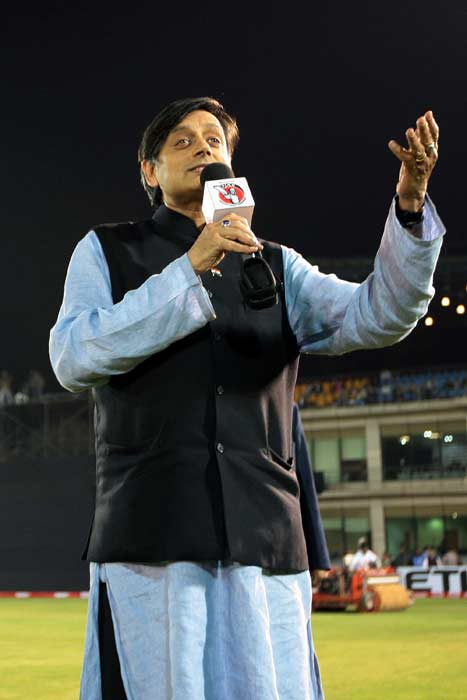 Shashi Tharoor's night out at TUCC