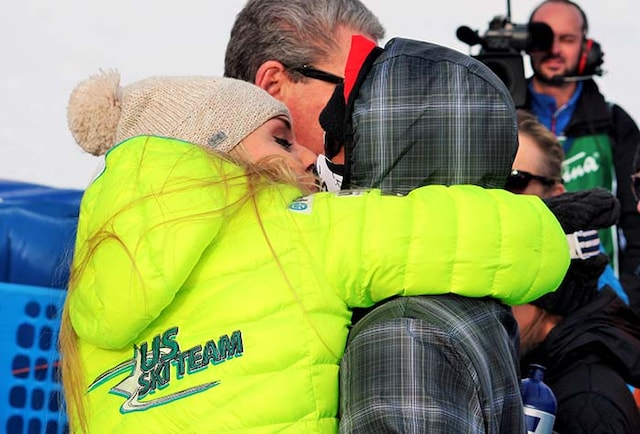 Toothless Tiger Woods Romances Vonn on Italian Peak