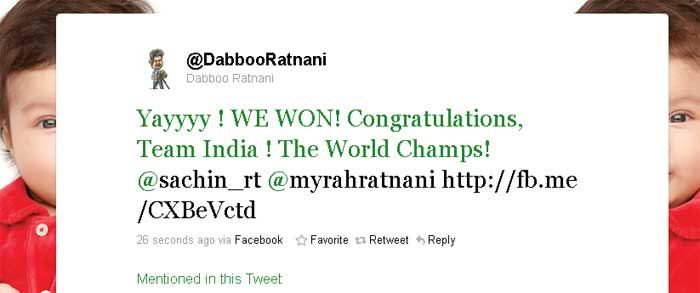 Tweets for champions