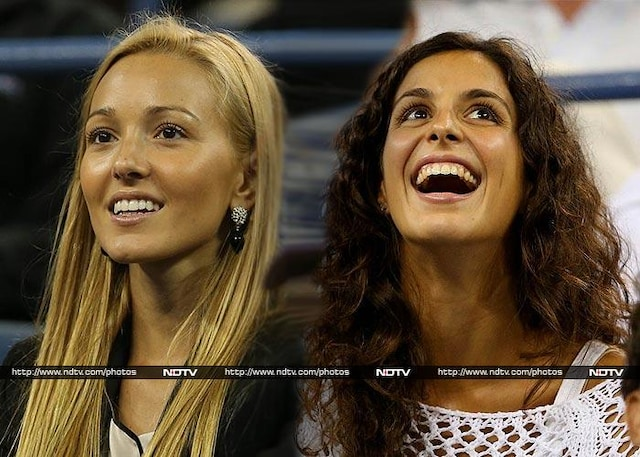 Battle of girlfriends: Its Jelena vs Xisca at US Open!