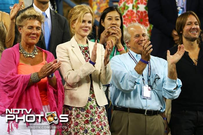 US Open: Celebrities rush in for tennis action