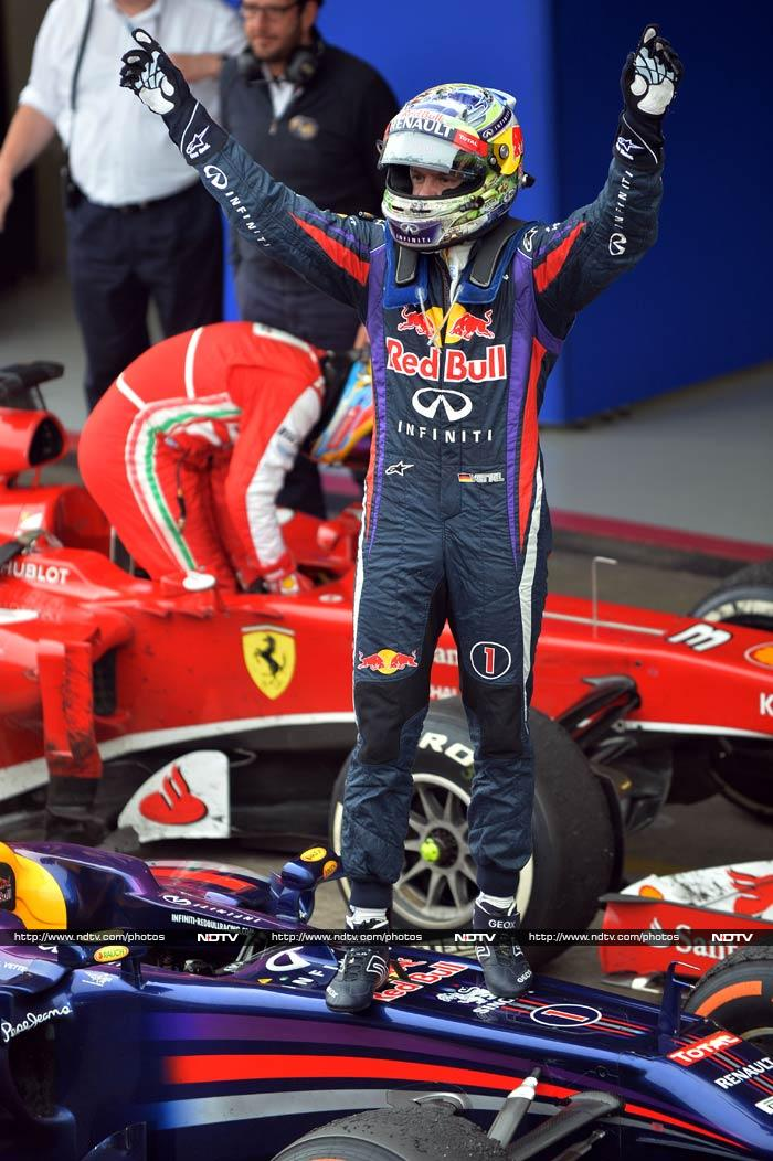 Vettel leads Red Bull celebrations at Interlagos