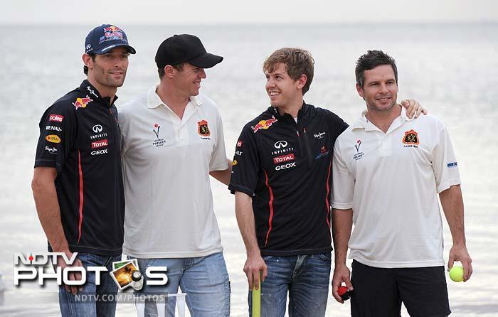A day of cricket for Vettel, Webber