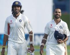 Photo : 2nd Test: Ishant, Dhawan star to put India on top vs NZ on Day 1