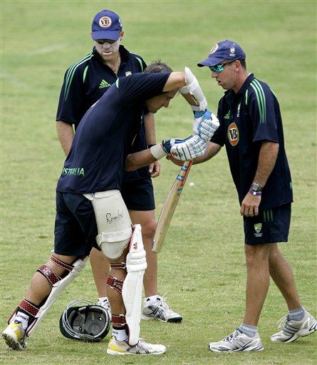 Australia-West Indies, practice session