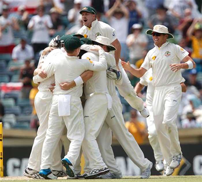 Wild at the WACA - Aussies celebrate Ashes triumph