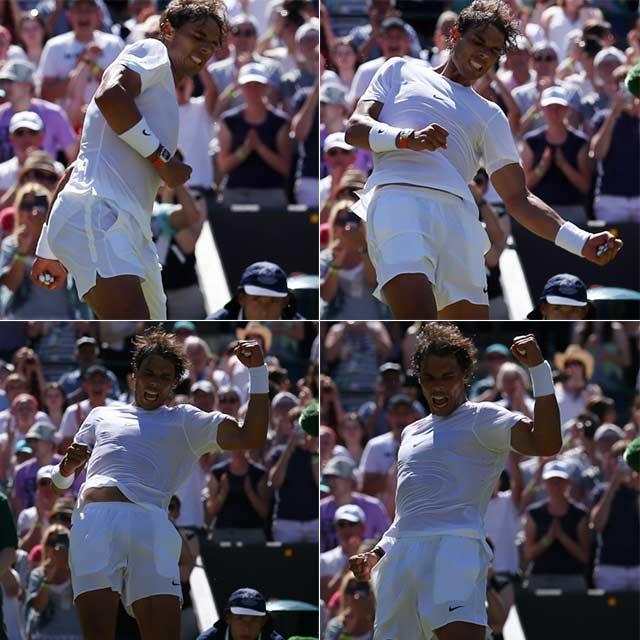 Photo : Wimbledon 2015: Eugenie Bouchard and Simona Halep Crash Out, Nadal Cruises on Day 2