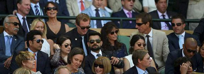 Tendulkar, Kohli, Princess Kate Add to Star Power in Wimbledon