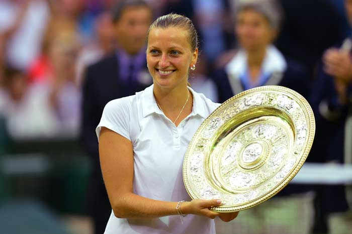 Kvitova Crushes Bouchard to Lift Second Wimbledon Title