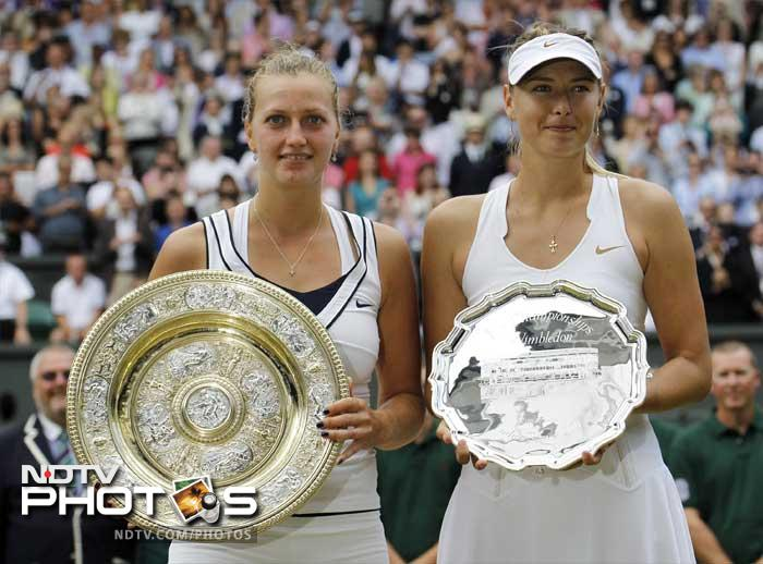 Kvitova stuns Sharapova to win Wimbledon