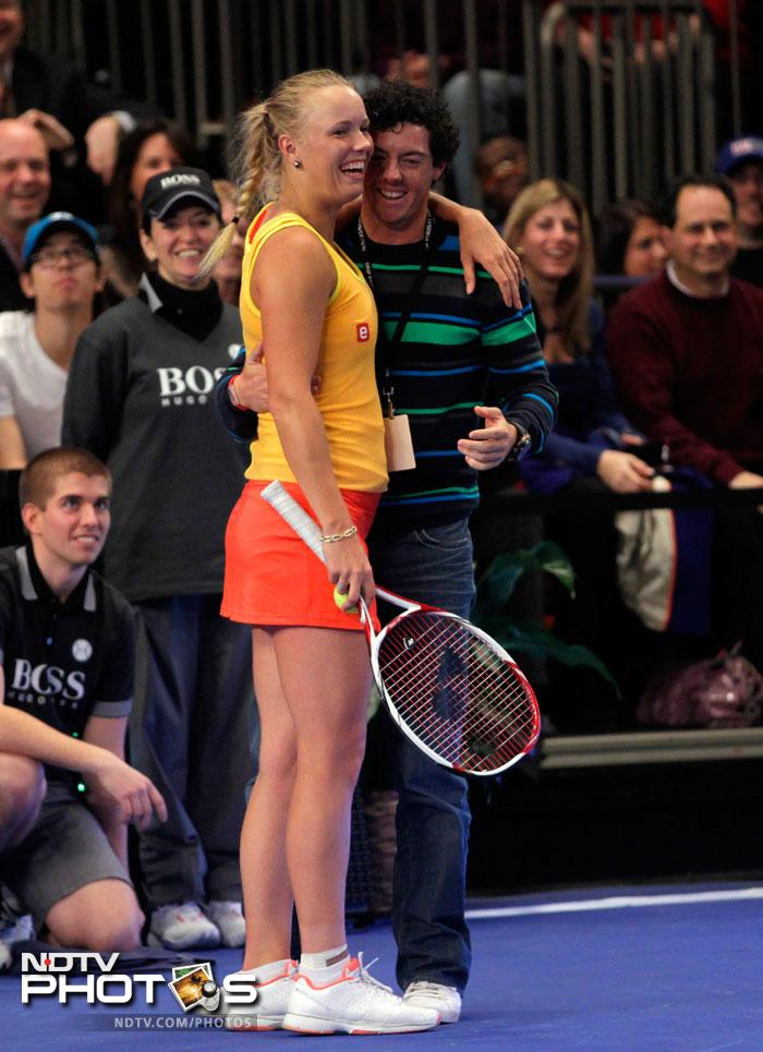 McIlroy beats Sharapova, Wozniacki doesn't