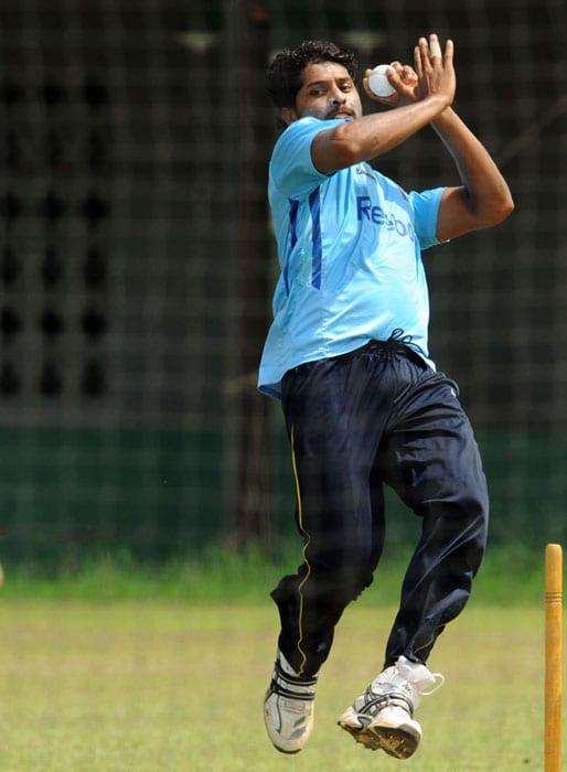 Lankans at practice