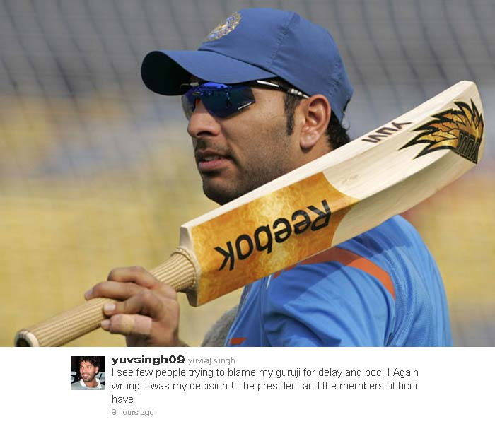 "Yuvraj tweets to thank the ""prayers of my nation"""