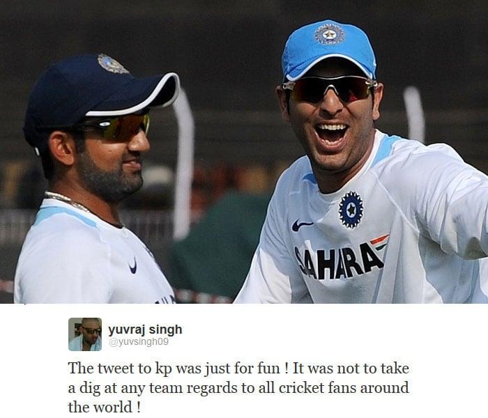 Yuvraj's cheeky tweet to 'Peter Bhaiya'