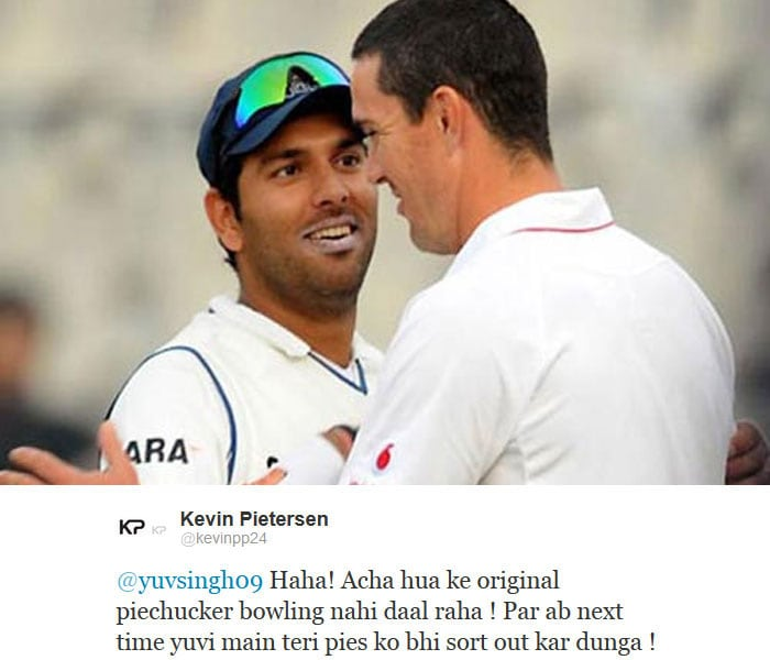 Yuvraj, Pietersen share cheeky Hindi tweets