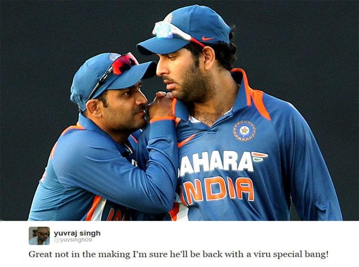 Yuvraj backs Sehwag in tough times