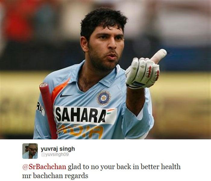 Yuvraj, Big B inspire each other on Twitter