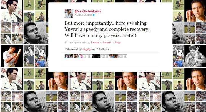 Big B, Harbhajan wish Yuvraj speedy recovery on Twitter