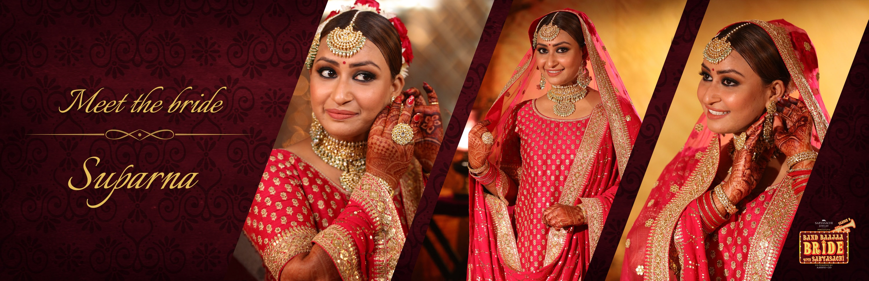 page the band bride brides baajaa check photos lookbook gorgeous exclusive bands sabyasachi lehengas in shnaya out