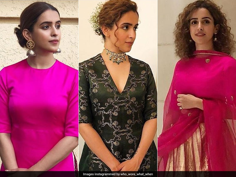 Sanya Malhotra Wears Raw Mango For Pataakha Promotions, Ends Up Giving Us Festive Vibes