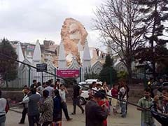 Historic Dharahara Tower Collapses in Kathmandu After Earthquake, 180 Killed