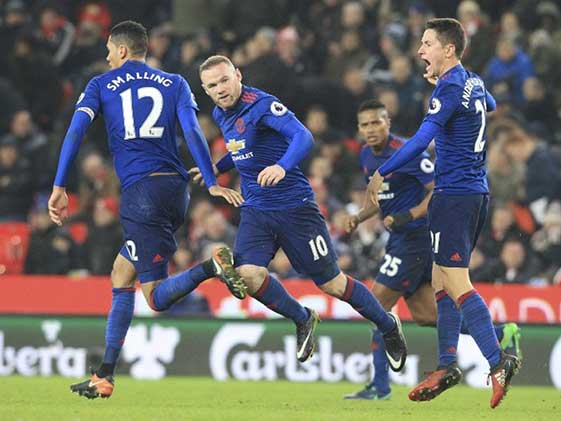 Rooney Becomes Man United's Record Scorer In 1-1 Draw vs Stoke