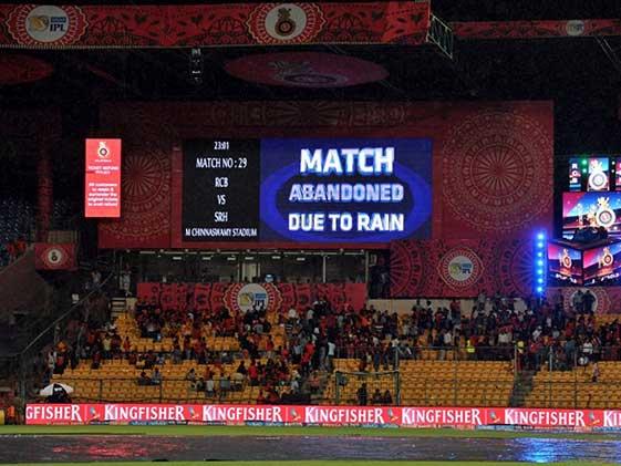 IPL 2017: RCB vs SRH Match In Bengaluru Abandoned Due To Rain