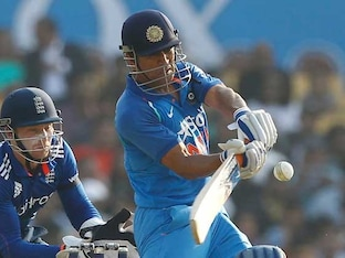 2nd ODI: MS Dhoni Hits Classy Century In Rescue Act