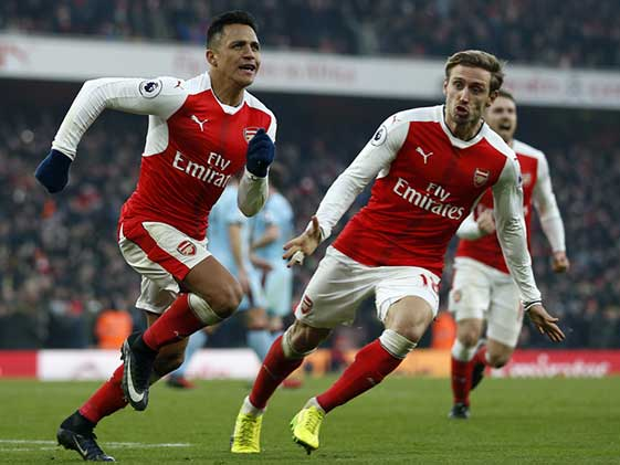 Arsenal Beat Burnley 2-1, Southampton Blank Leicester 3-0
