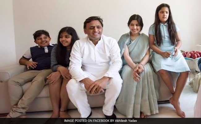 Image result for akhilesh yadav family photo