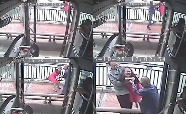 Quick-Thinking Bus Driver Saves Woman From Jumping Off Bridge in China