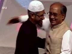Video With Cleric Zakir Naik Brings New Controversy For Digvijaya Singh