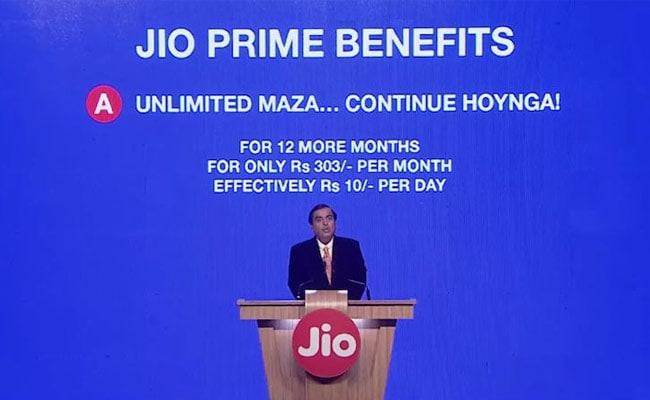 हर सेकंड सात कस्टमर जोड़ने वाले Jio ने 10 रुपये रोजाना कीमत पर लांच किया प्राइम ऑफर