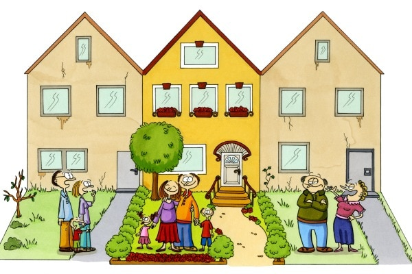 Love thy neighbour to overcome crisis in life for Enjoy your new home images